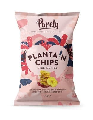 PURELY PLANTAIN Plantain Chips - Nice & Spicy 75g